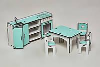 Мебель для кукольного домика Барби NestWood Кухня Мятная (kmb004m)
