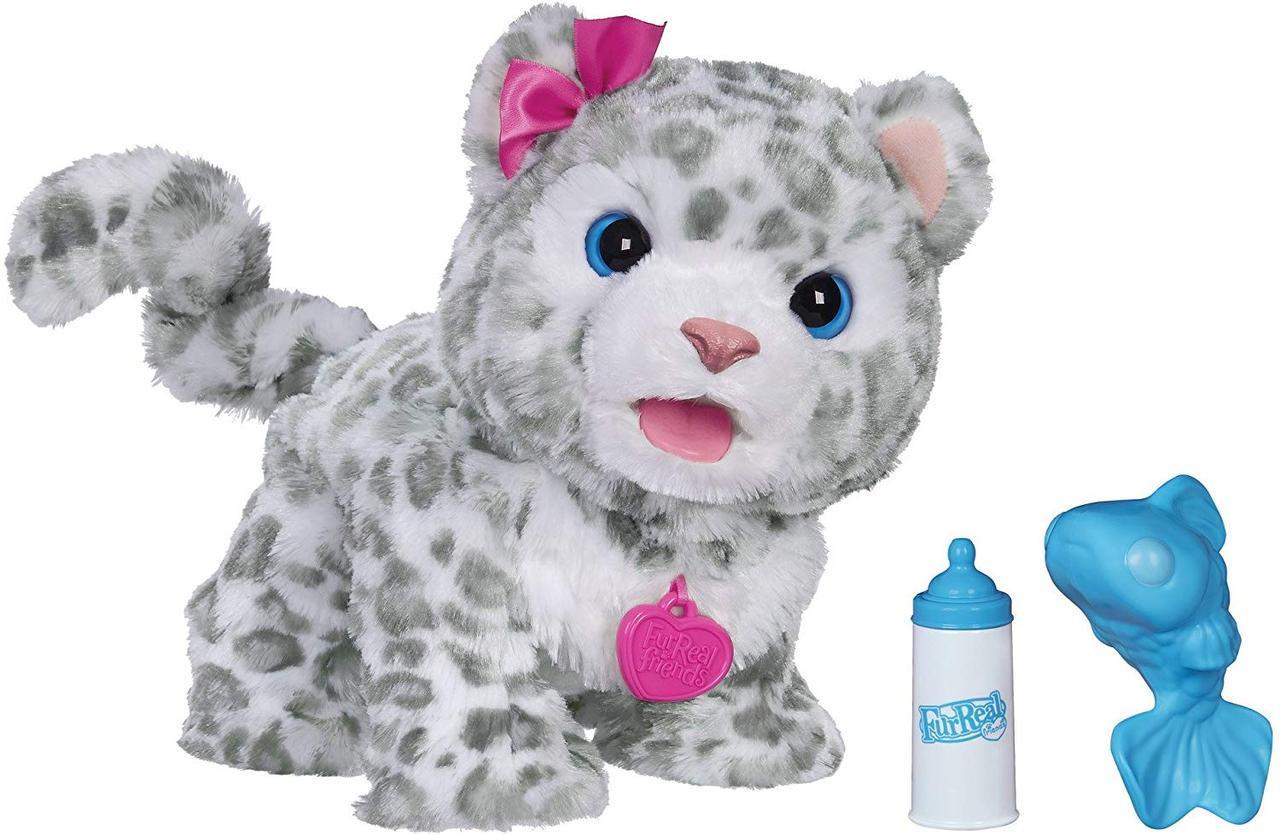 Интерактивный снежный леопард Фуриал  FurReal Friends My Baby Snow Leopard Interactive Plush