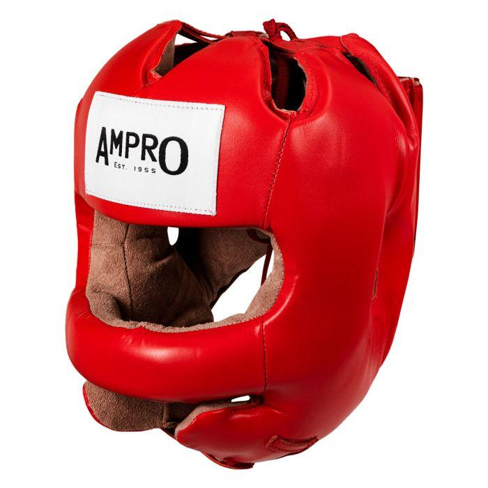 Бамперный шлем Title Ampro Leather Face Saver Red