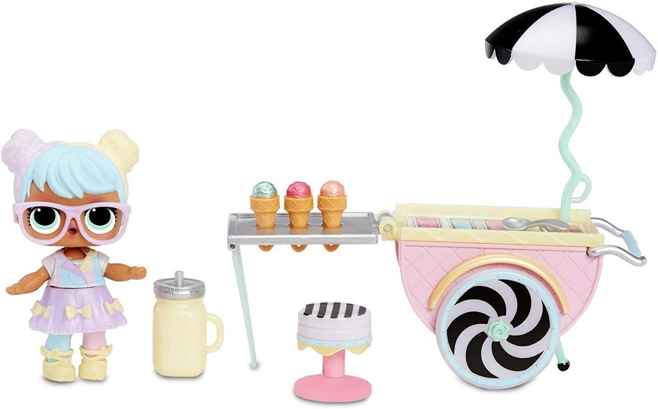 ЛОЛ Сюрприз! Тележка с мороженным Бон бон Кендилишис L.O.L Surprise! Furniture Ice Cream