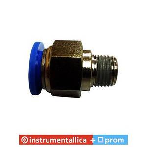 Соединитель быстроразьемный наружная резьба 1/8 (10мм) - пластиковый шланг 4 мм PC 0401 Sumake