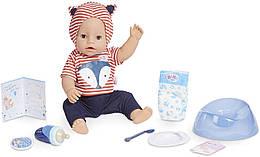 Кукла Беби Борн голубые глаза Baby Born Interactive Boy Blue Eyes