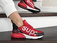 Женские кроссовки в стиле Nike Air Max 270 Supreme, сетка, пена, красные с белым 38 (24 см)