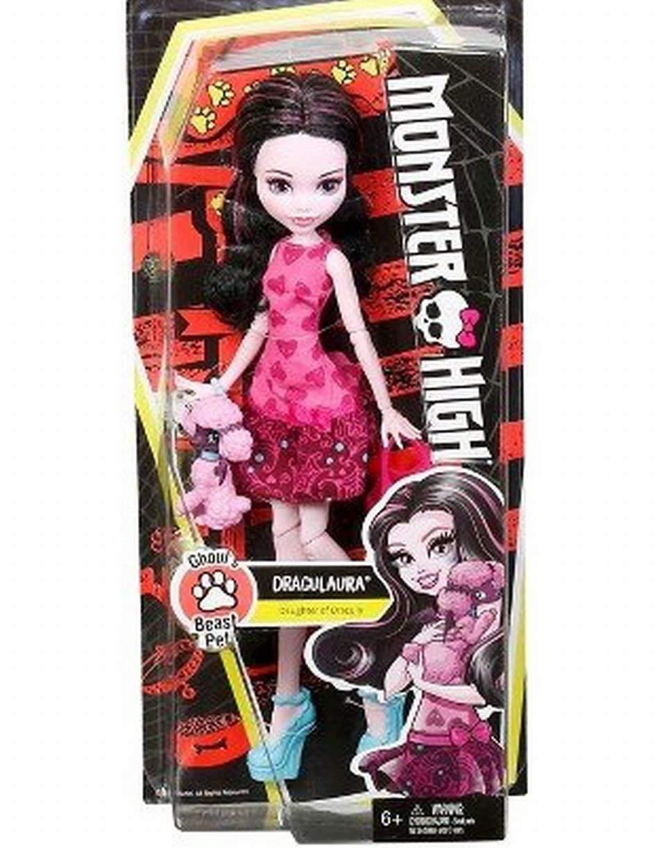 УЦЕНКА! Монстер Хай Дракулаура с питомцем Monster High Ghouls Beast Pet Draculaura