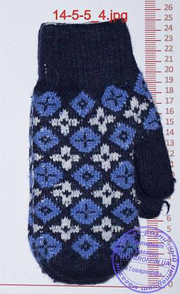 Варежки вязаные двойные - разные цвета - 14-5-5, фото 3