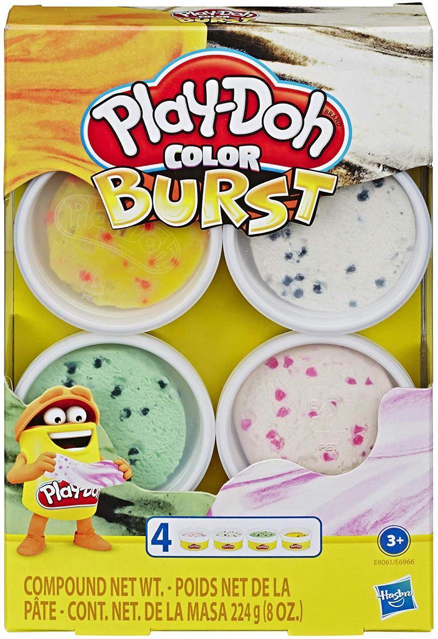 Новинка Плей-До серія Кольоровий Вибух Морозиво Букви і мови Play-Doh Color Burst Ice Cream