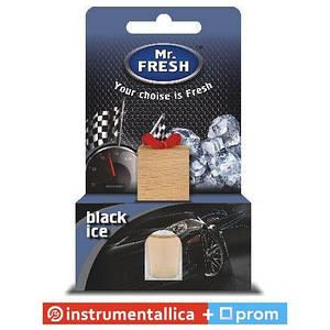 Ароматизатор Mr.Fresh бутылочка с деревянной пробкой Black Ice черный лед