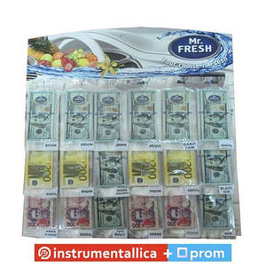 Ароматизатор Mr.Fresh Валюта планшет 72 шт цена за 1 шт