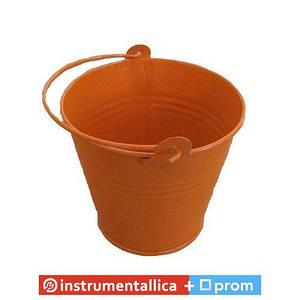 Сувенир Ведро среднее оранжевое диаметр 7,5 см высота 7 см