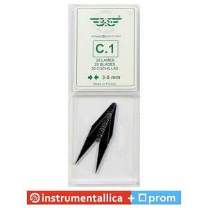 Ножи трапециевидные для нарезки протектора 3-5 мм упаковка 20 штук С1 PSO Франция