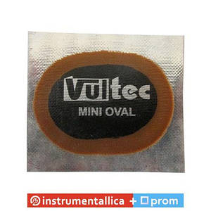 Латка камерная Vultec Евростиль овальная 40 мм х 30 мм упаковка 50 штук 016V Mini Oval