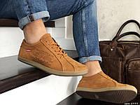 Мужские кроссовки в стиле Levi's, кожа, рыжие *** 40 (26,5 см)