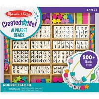 Набор для творчества Melissa&Doug Мега-набор деревянных бусин Алфавит (MD13774)