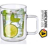Кружка Simax для чая 200 — 2 шт. — ударопрочное стекло цвет прозрачный можно мыть в посудомоечной машине, подходит для микроволновой печи, двойные