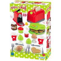 Игровой набор Ecoiffier Кухонная техника с посудой и продуктами 33 аксессуарами (002647)