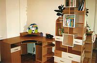 Детская стол со стеллажем