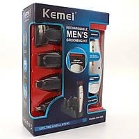 Профессиональная машинка для стрижки волос Kemei LFQ-KM-560 с насадками, триммер для волос