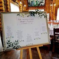 Схема рассадки гостей, фото 1
