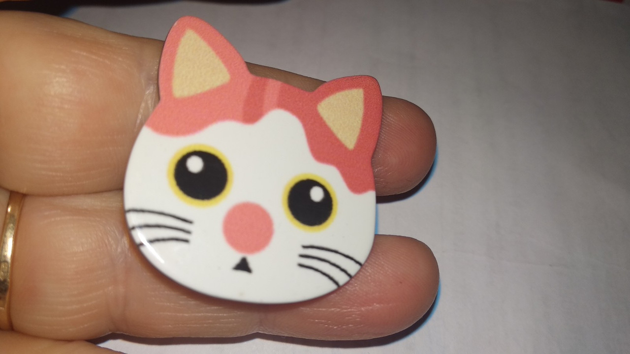 Брошь брошка значок кот кошка