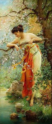 КДИ-0961 Набор алмазной вышивки Весна. Художник Hans Zatzka, фото 2