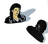 Значок брошь брошка Майкл Джексон Michael Jackson металл отличное качество, фото 9