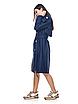 Стильный женский двубортный тренч классической длины, красный/бежевый/темно-синий, 44/46/48/50, фото 6