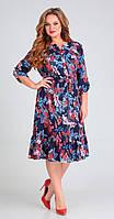 Платье Асолия-2470 белорусский трикотаж, темно-синий, 50