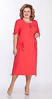 Платье Теллура-Л-1480 белорусский трикотаж, красный, 54