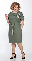 Сукня Телуру-Л-1489 білоруський трикотаж, хакі, 52