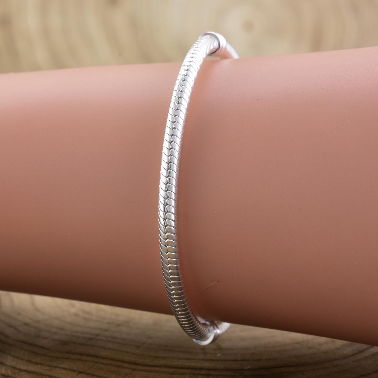Серебряный браслет Pandora длина 17 см ширина 3 мм вес серебра 13.4 г
