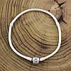 Серебряный браслет Pandora длина 17 см ширина 3 мм вес серебра 13.4 г, фото 2