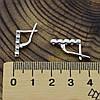 Серебряные серьги Камила размер 17х3 мм вставка белые фианиты вес 2.9 г, фото 3