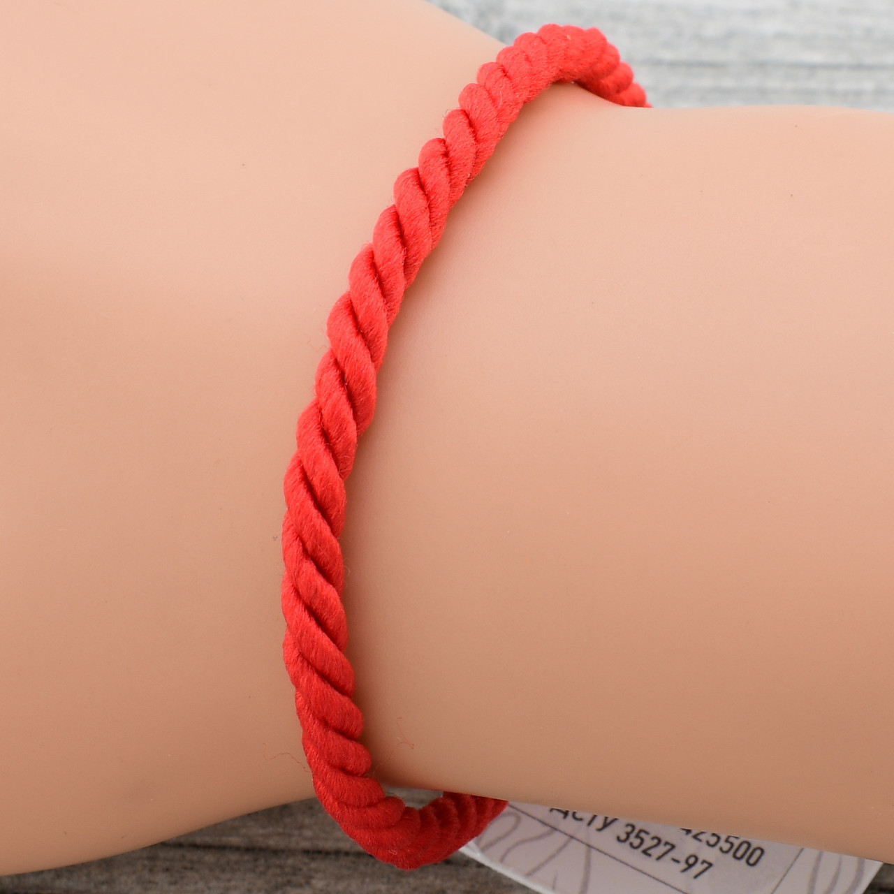 Серебряный браслет оберег плетённый П4036 длина 19 см ширина 3 мм вес 0.8 г