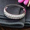 Серебряное кольцо Узкий шик вставка белые фианиты вес 2.4 г размер 15, фото 2
