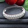 Серебряное кольцо Узкий шик вставка белые фианиты вес 2.4 г размер 15, фото 3