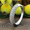 Серебряное кольцо Узкий шик вставка белые фианиты вес 2.4 г размер 15, фото 4