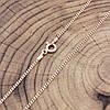 Серебряная цепочка позолоченная Панцирная длина 45 см ширина 1 мм вес 2.25 г, фото 3