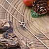Серебряная цепочка позолоченная Панцирная длина 45 см ширина 1 мм вес 2.25 г, фото 4