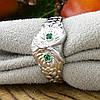 Кольцо серебряное женское Совушка вставка зелёные фианиты размер 18, фото 2