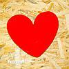 Объемное сердце из пенопласта Красное