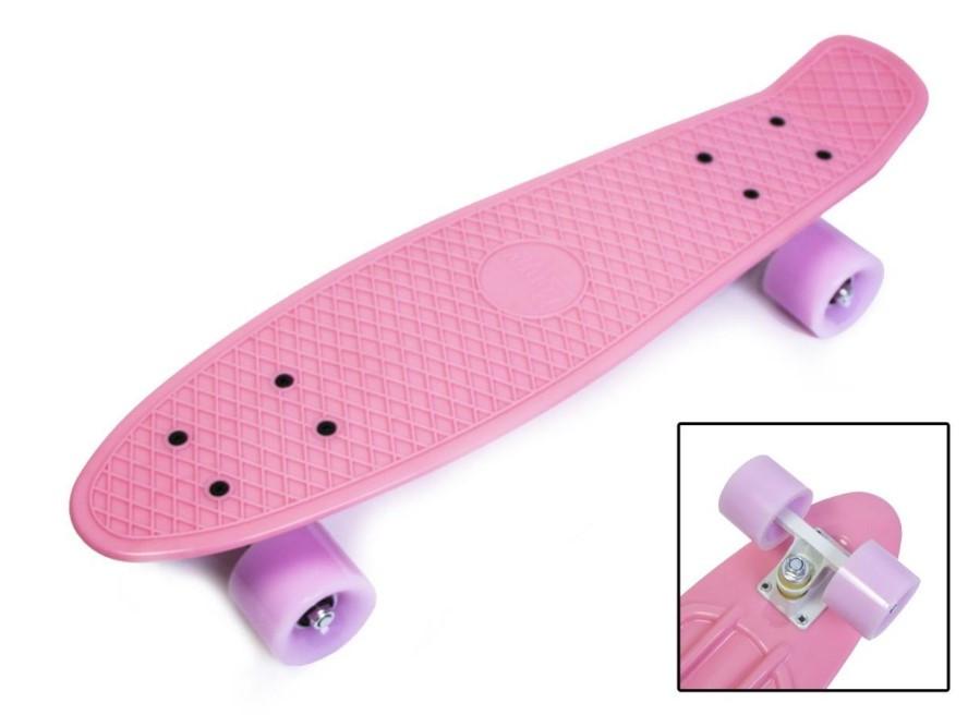 """Скейт скейтборд пенни борд 22"""" розовый"""