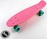 "Скейт скейтборд пенни борд 22"" розовый, фото 2"