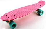 "Скейт скейтборд пенни борд 22"" розовый, фото 5"