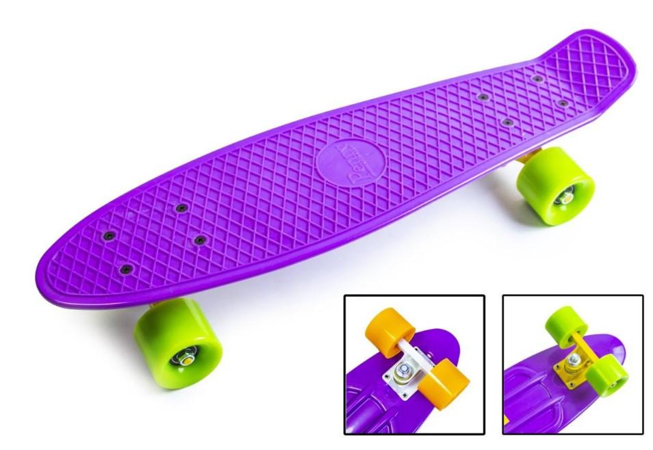 "Скейт скейтборд пенни борд 22"" фиолетовый"