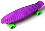 "Скейт скейтборд пенни борд 22"" фиолетовый, фото 2"