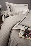 Комплект постельного белья Страйп Сатин евро Novel Line S.Kahve, фото 2