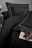 Комплект постельного белья Страйп Сатин евро Novel Line  Siyah, фото 2