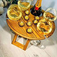 Винный столик из ясеня. VIP подарок для руководителя, начальника, шефа, босса