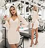 Стильне жіноче плаття міні (4 кольори) ТК/-1238 - Молочний