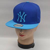 Мужская реперская кепка SNAPBACK - NY (синяя)